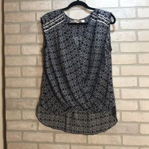 Max studio navy blue blouse